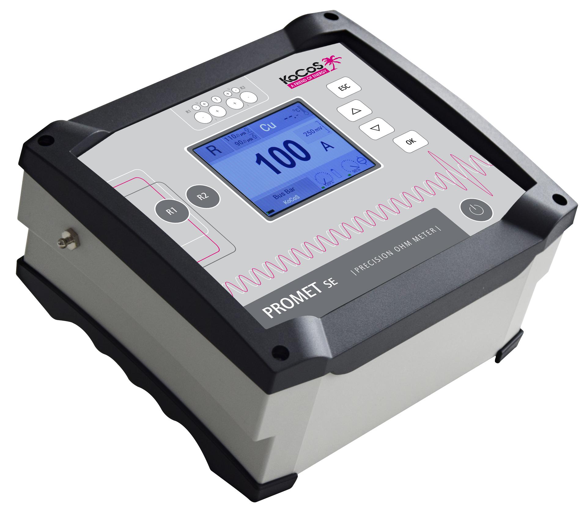 ACTAS P360 + PROMET SE: medições das resistências de contato do disjuntor